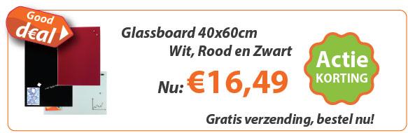 Glassboard 40x60cm actie