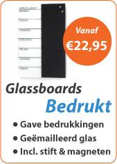 Glassboards bedrukt