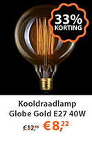 Kooldraadlamp Globe Gold E27 40W