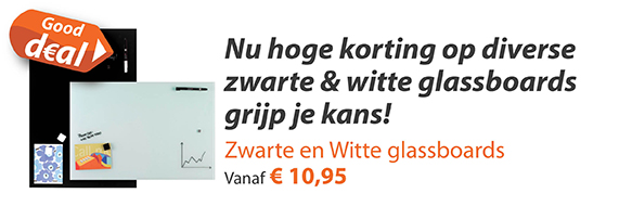 zwarte en witte glassboards